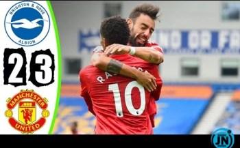 [Highlights] Premier League - Brighton vs Man United 2-3